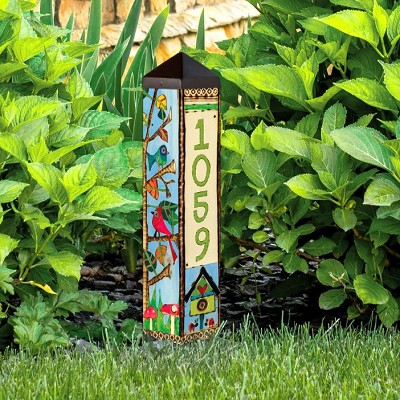 Custom Personalized 2 ft. Address Art Pole 5x5 Birds