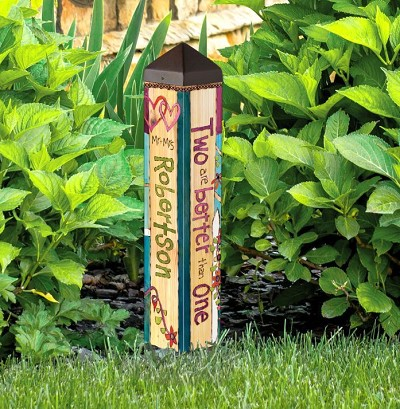 "Custom Personalized 20"" Art Pole 4x4 Marriage"