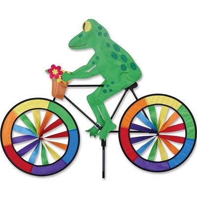 Tree Frog Bicycle Wind Spinner Large