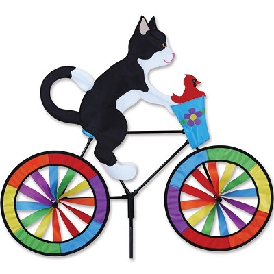 Tuxedo Cat Bicycle Wind Spinner Large