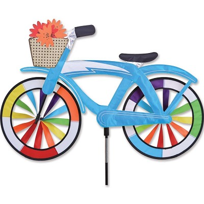 Blue Classic Cruiser Bicycle Wind Spinner Large