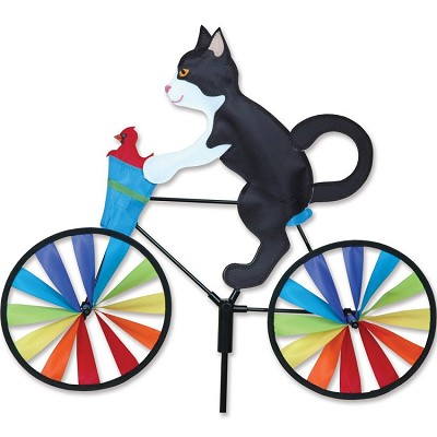 Tuxedo Cat Bicycle Wind Spinner Medium