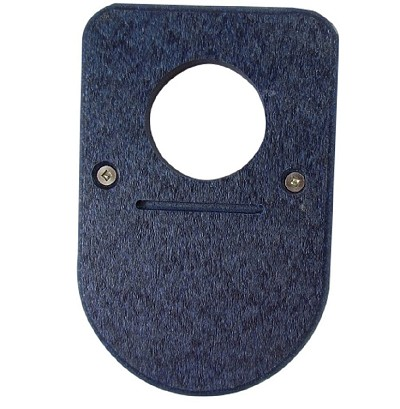 Recycled Poly Bluebird House Predator Guard Blue