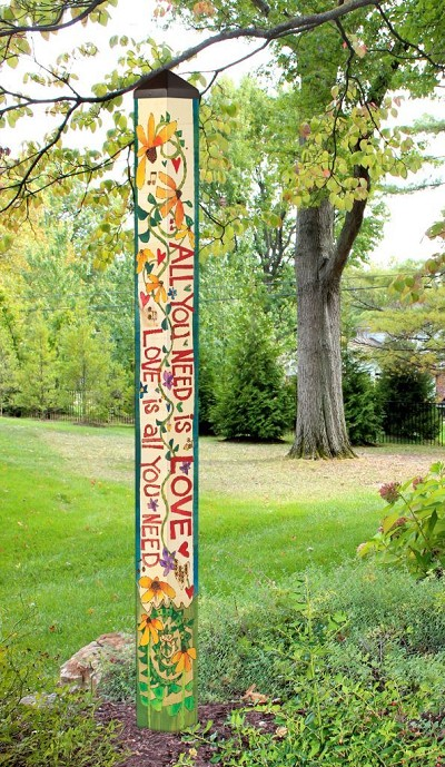 6 ft. Art Pole 5x5 All You Need Is Love