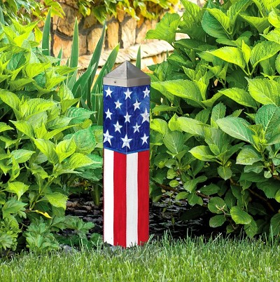 Stars and Stripes Forever 20 Inch Art Pole 4x4