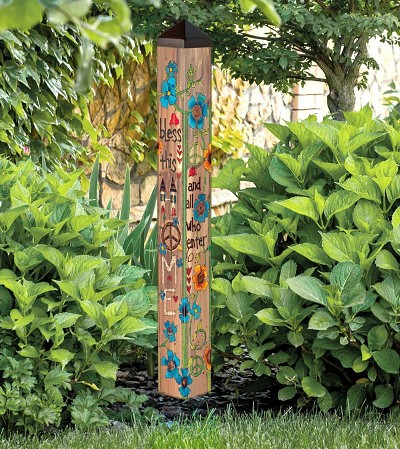 House Blessing 40 Inch Art Pole 4x4