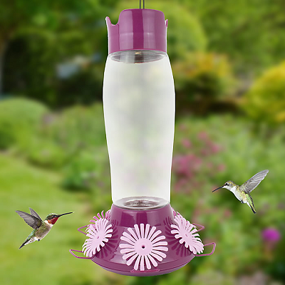Hummer's Favorite Top-Fill Glass Hummingbird Feeder 36 oz.