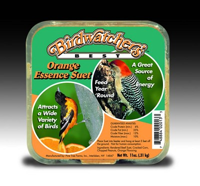 Birdwatcher's Orange Essence Suet Cake