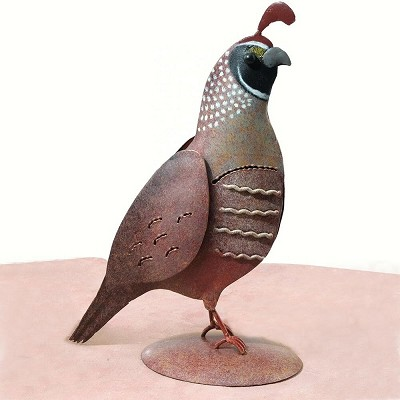 Quail Decor Sculpture Male