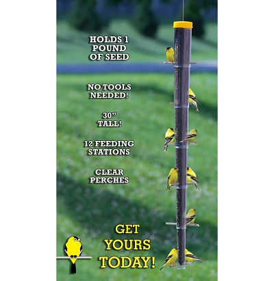 "Collapsible 30"" Finch Feeder"