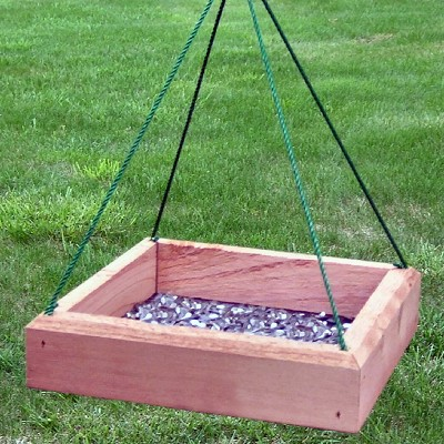 "Cedar Hanging Tray Feeder 12"" x 12"""