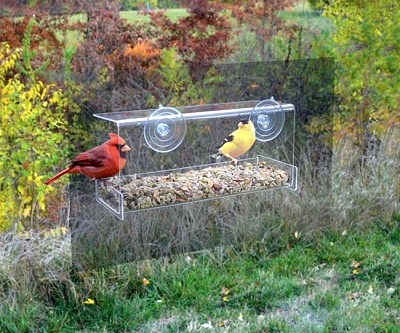 Clear View Deluxe Open Diner Mirrored Window Bird Feeder