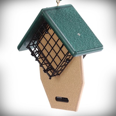 Recycled Plastic Double Cake Tail-Prop Suet Feeder