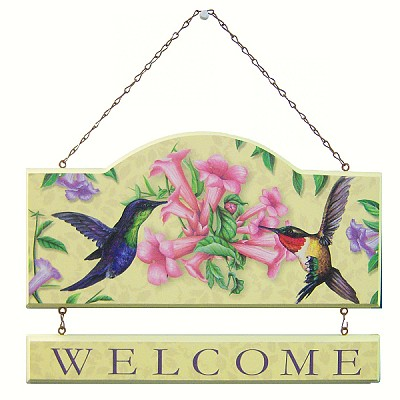 Sweet Nectar Welcome Wall Plaque