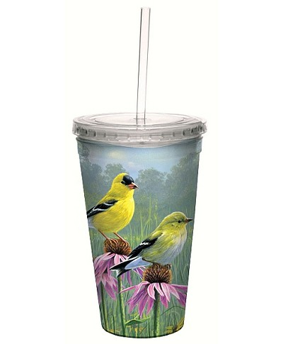 Goldfinch and Coneflowers 16 oz. Cool Cup Tumbler