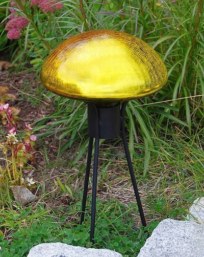 Crackle Glass Toadstool Lemon Drop
