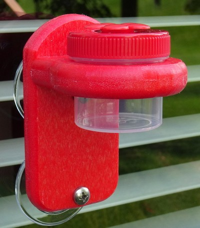 Nectar Dots Window Hummingbird Feeder Red/Red