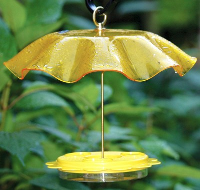 Flutterby Butterfly Feeder with Yellow Weather Guard