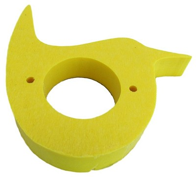 Recycled Poly Wren House Predator Guard Yellow Set of 2