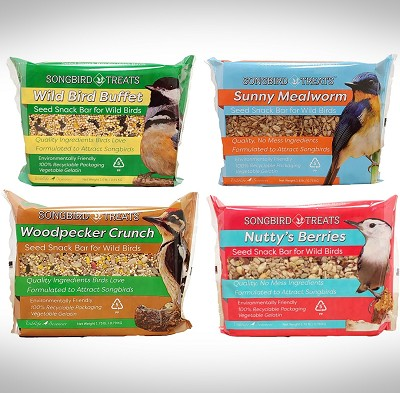 Songbird Treats Large Seed Bar Variety 4/Pack