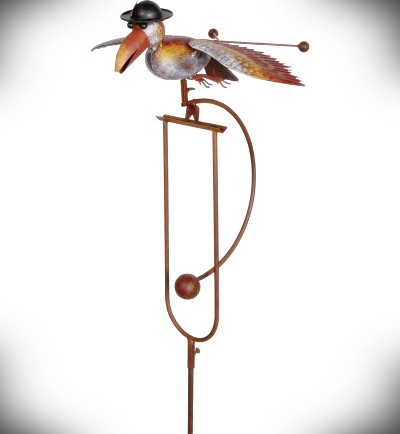 Rocking Bird with Derby Kinetic Garden Stake 61""